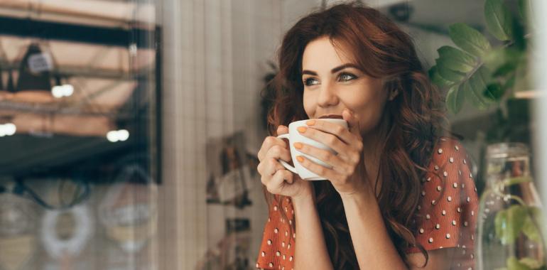 koffie drinken op het werk